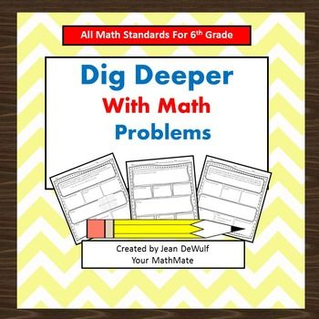 best expression solver ideas lining paper make dig deeper math problems bundle all 6th grade math standards included