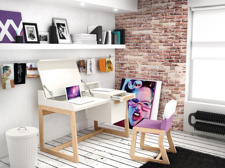 Pokój dziecięcy i młodzieżowy : Biurko FIRST - Sweet Home and More  http://sweethomeshop.pl/pokoj-mlodziezowy/biurko-first-1-detail