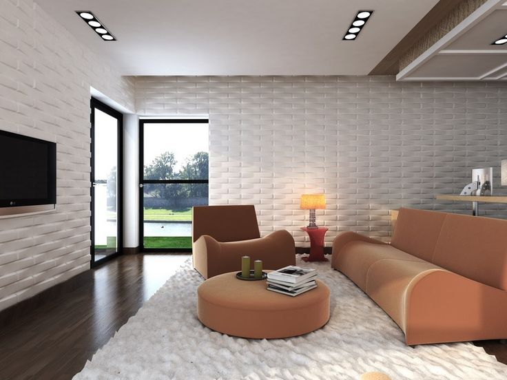 """A great """"Feeling"""" living space where the walls look as dimensional as a furry rug."""