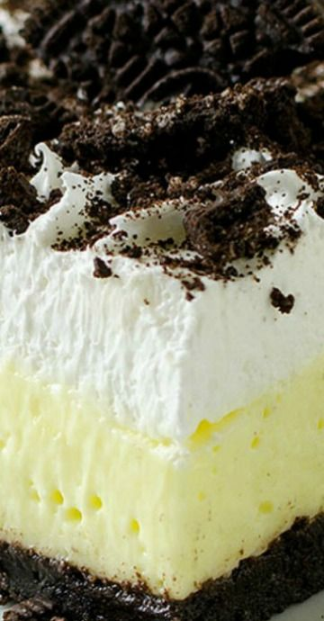No Bake Oreo Vanilla Pudding Cake Recipe Cakes Pinterest