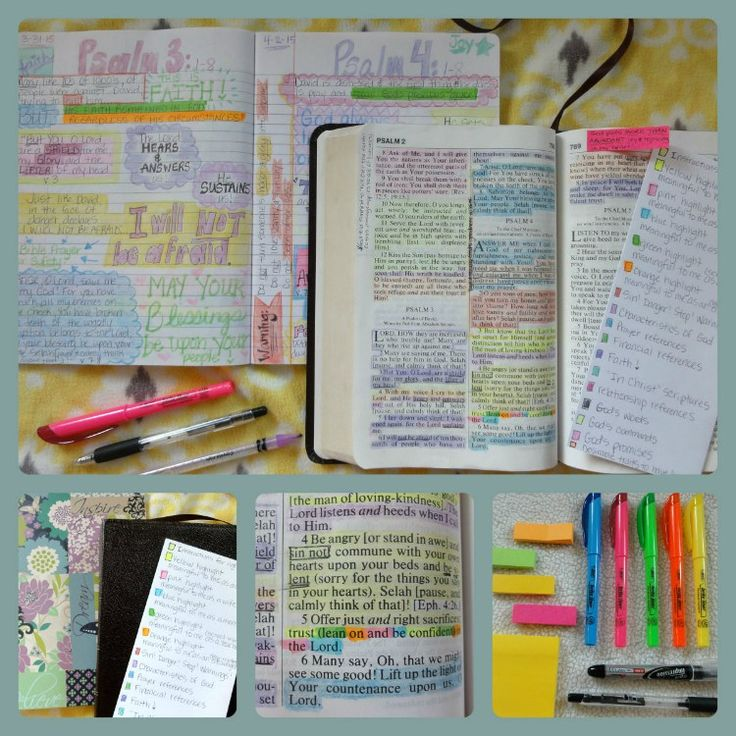 how to color code and study the bible;