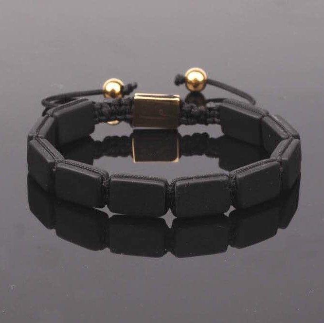 PRE-ORDER : Black Matte Onyx Plated Bracelet
