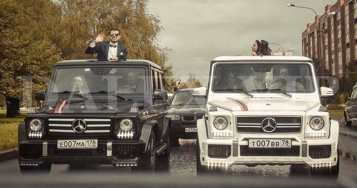 Авто на свадьбу ЛЮКС белого и черного цвета - Black White G Class