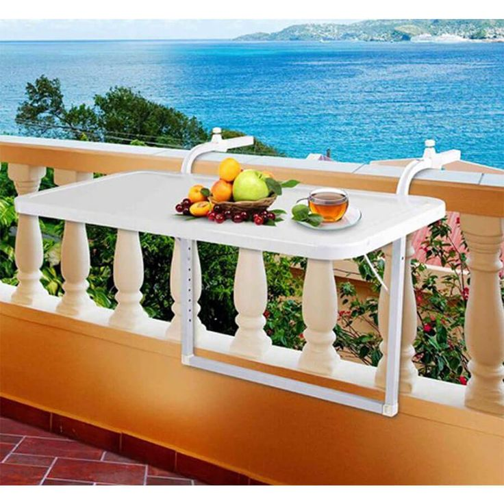 Best Adjustable Folding Railing Hanging Balcony Serving Table 400 x 300