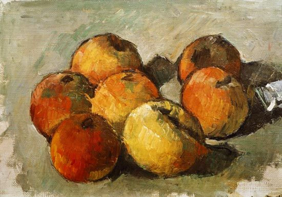 Paul Cezanne: Still life with apples and a tube of paint