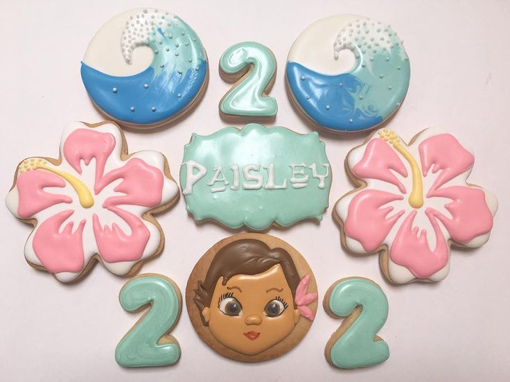 """124 Likes, 4 Comments - Sandy's Sweets (@sandys_sweets1) on Instagram: """"The rest of the Moana cookie set for Paisley's 2nd birthday! Thanks again Sarah for the order!  …"""""""