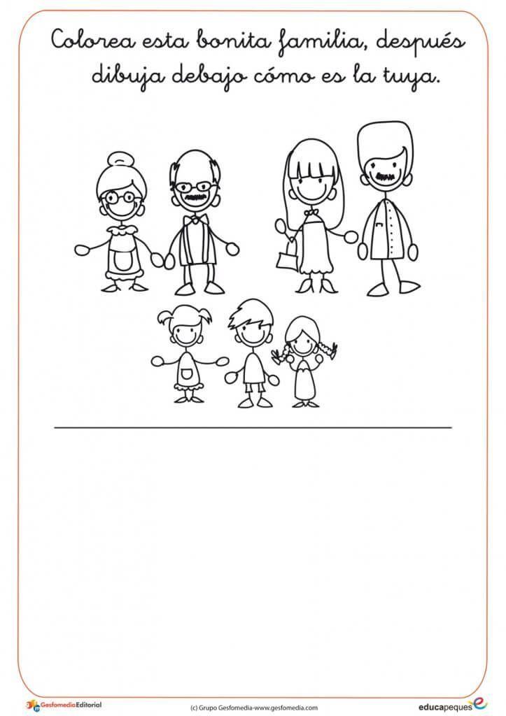 Cubo De La Familia Ingles Para Preescolar Fichas Ingles