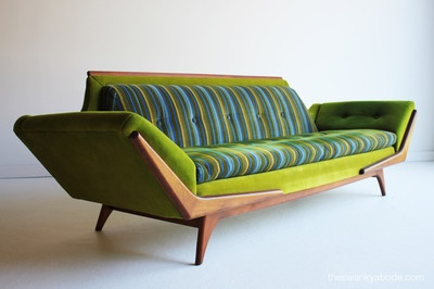 Mid Century Modernadrian Pearsall Lime Sofa For Craft Associates