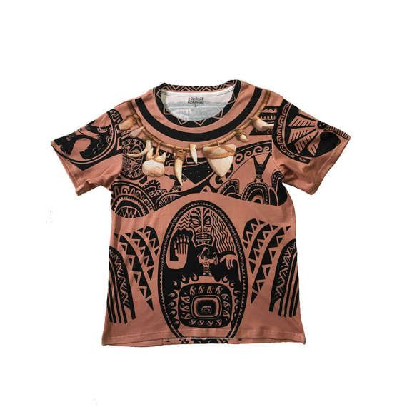 *PLEASE PLACE ORDERS BY SEPTEMBER 25TH FOR GUARANTEED HALLOWEEN DELIVERY*  Sublimation printed shirt inspired by Maui from the Disney film Moana! Great for a disneybound, halloween costume or everyday wear!  KIDS SIZES: https://www.etsy.com/listing/495569978/kids-maui-moana-inspired-disneybound  This design is printed using a sublimation printer, meaning the design is dyed into the fabric, making the design last longer than traditionally printed shirts.  Printed on a ...