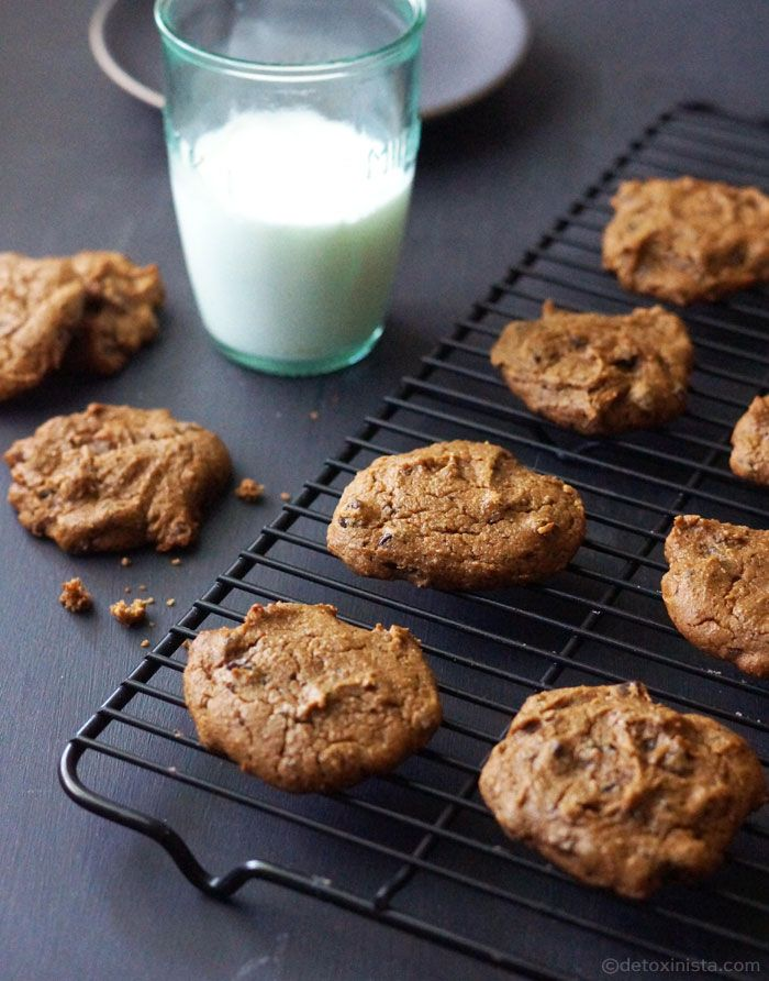 Vegan Chickpea Chocolate Chip Cookies (Gluten-free, Nut-free) | Detoxinista