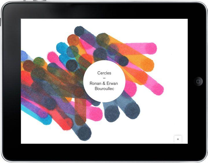 Cercles - iPad App by Ronan&Erwan Bouroullec