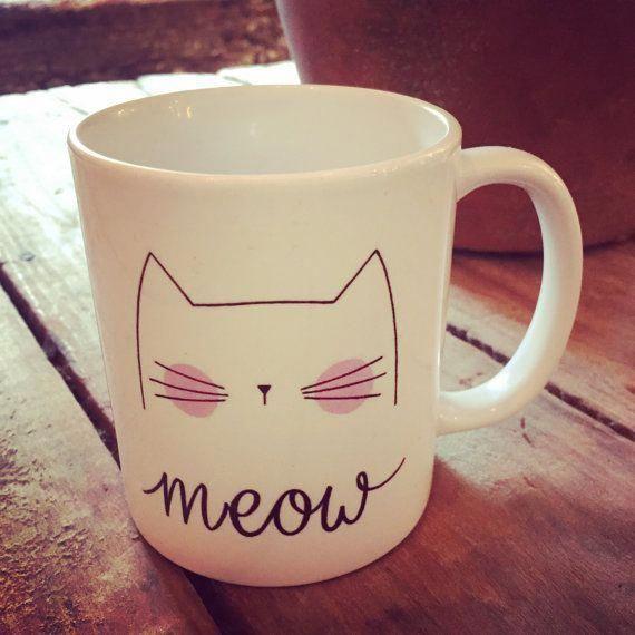 Meow Platesplease Mug Café Par Chat Cadeau OlPkXZuiwT