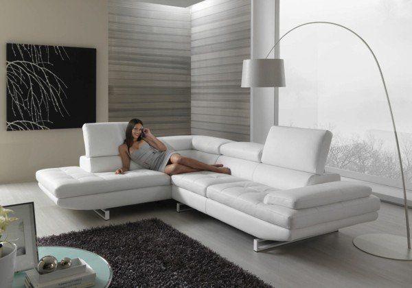 white leather corner sofa |