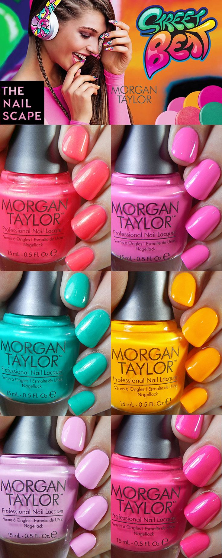 Morgan Taylor Street Beat Collection swatched on The Nailscape