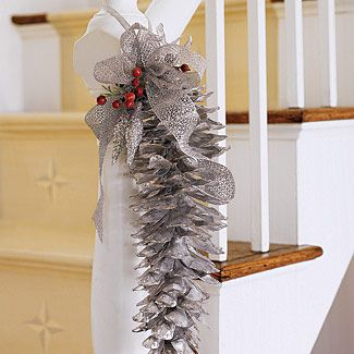 for a twist on the traditional deck the halls and stairs with swigs