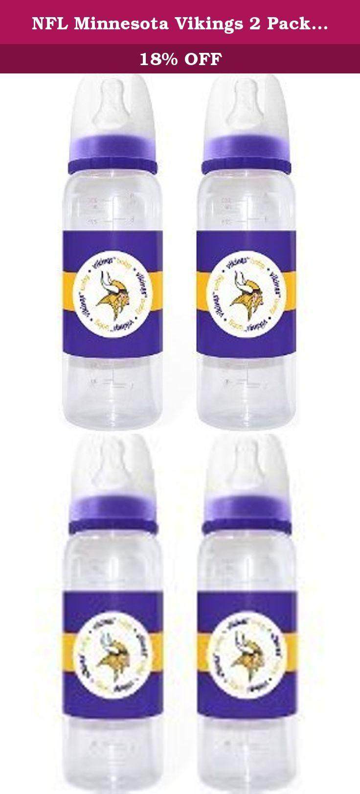 NFL Minnesota Vikings 2 Pack Bottles. NFL Baby Fanatic 2 Pack Bottles.