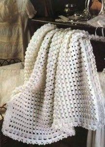 Crochet golden blanket