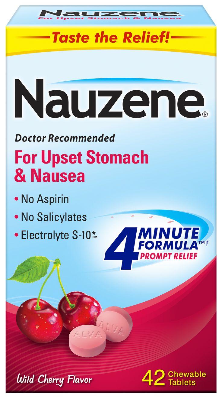 Nauzene Nausea Relief Chewable Tablets Wild Cherry Flavor