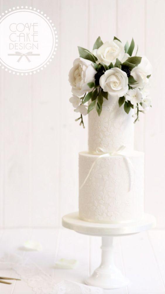 Featured Cake: Cove Cake Design; Wedding cake idea.