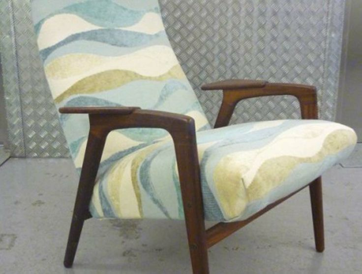Danish Armchair Love This Fabric Beach And Coastal