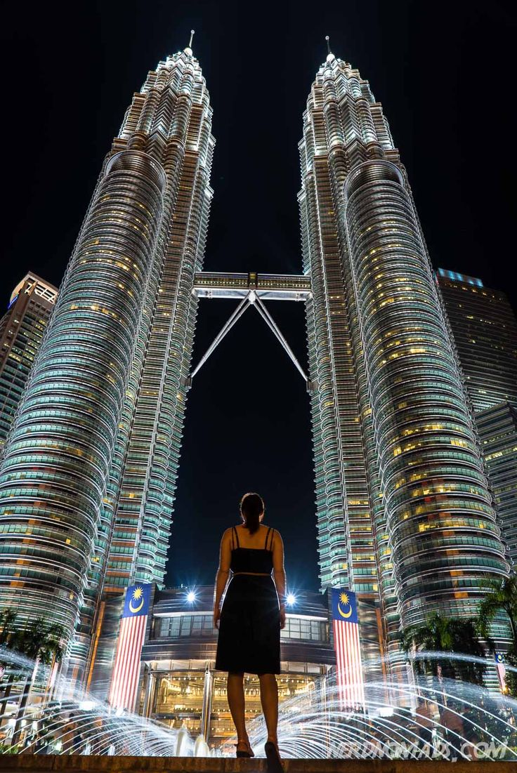 The stunning Petronas Twin Towers in Kuala Lumpur, Malaysia.