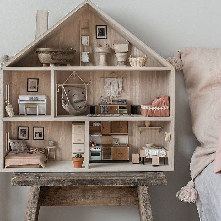 "1,452 Likes, 55 Comments - Poppytalk (@poppytalk) on Instagram: ""Insert us here! @annamalmbergphoto dollhouse is genius and can we just move into that bedroom right…"""