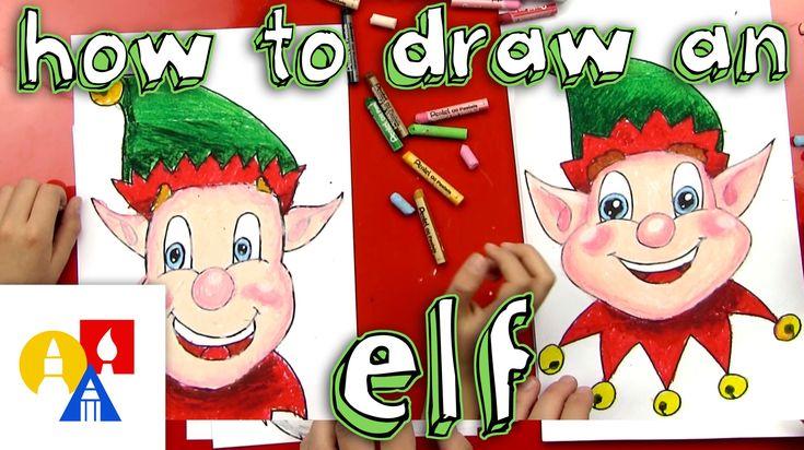 How to draw an elf from Art for Kids Hub. | christmas/winter | Pinterest | Kid, Christmas elf ...
