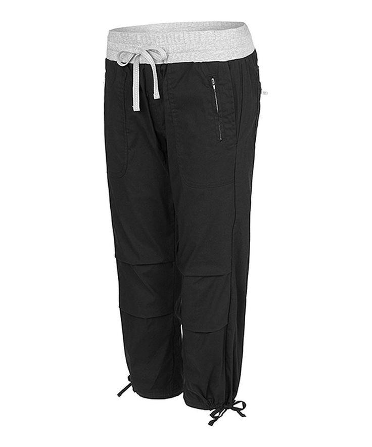 Black Flashdance Three-Quarter Pants By Lorna Jane #zulily