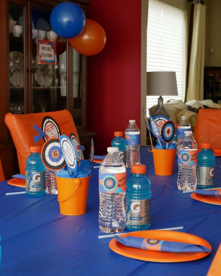 Sammy's 6th Birthday NERF Battle Training Party | CatchMyParty.com