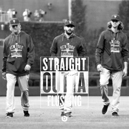 Jacob deGrom, Matt Harvey, and Noah Syndergaard : Straight Outta Flushing #Mets