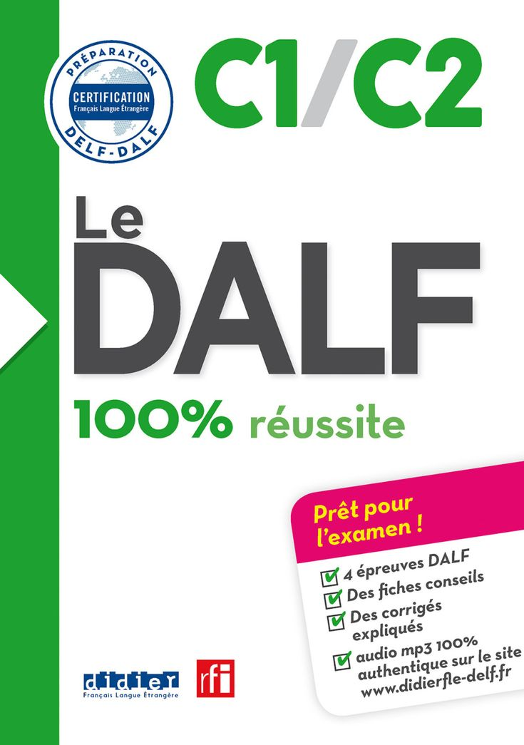 Le DALF - 100% réussite - C1 - C2 - Livre - version numérique epub (eBook) | Learn french ...