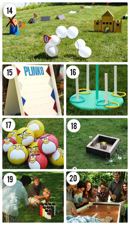 7 DIY Outdoor Games