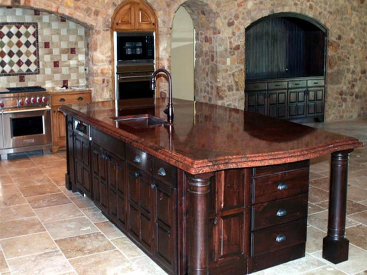 Red Granite Kitchen Countertops : Best images about vibrant red granite kitchen