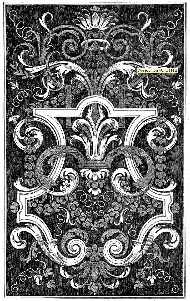 Titre : L'Art pour tous (Paris. 1861) Titre : L'Art pour tous : encyclopédie de l'art industriel et décoratif / M. Émile Reiber, directeur-fondateur Éditeur : A. Morel & cie (Paris)_ http://gallica.bnf.fr/ark:/12148/bpt6k57623304/f175.image