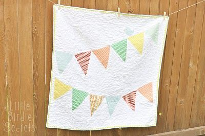 Baby bunting banner quilt tutorial