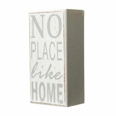 No Place Like Home Block Sign - Amour Decor