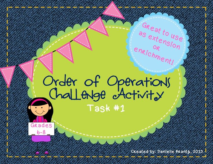 how to teach order of operations in a fun way