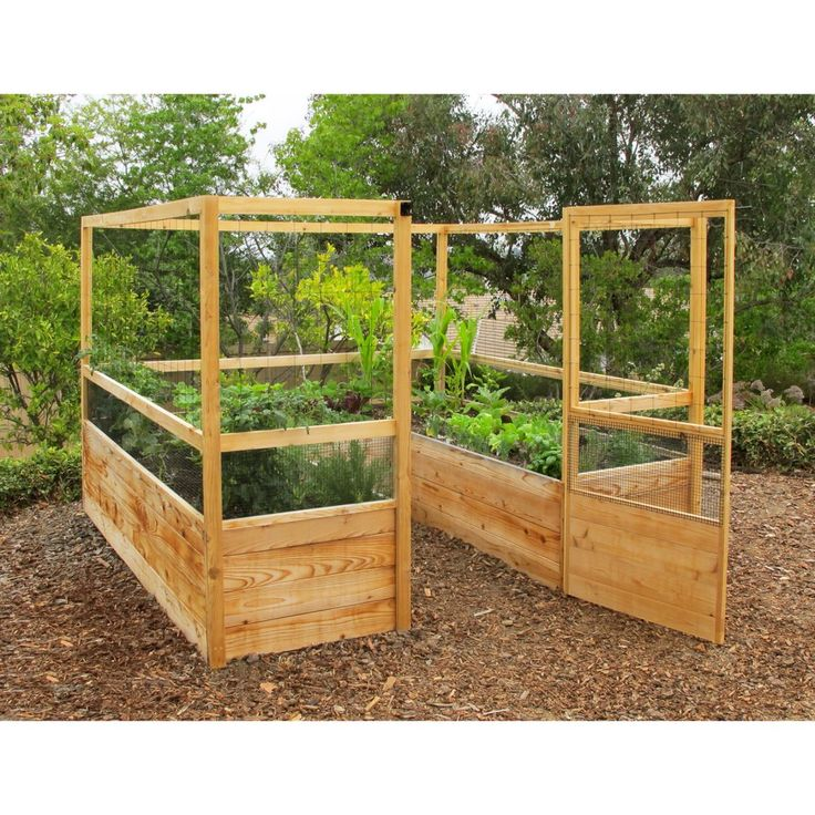 Gardens to gro 8 x 8 ft deer proof vegetable garden kit gardens raised beds and container - Deer proof vegetable garden ideas ...