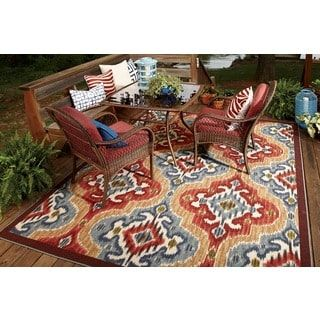 Mohawk Home Printed Indoor Outdoor Mystic Ikat Primary 5 X 8 By Mohawk Home
