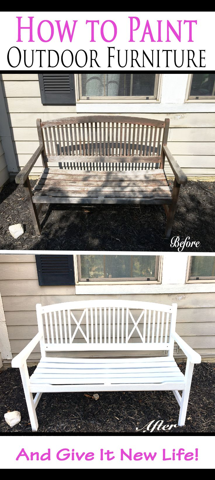 This technique for sanding and painting outdoor furniture is so much easier than…