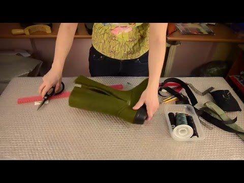 Мастер класс как установить молнию на валяную обувь - YouTube