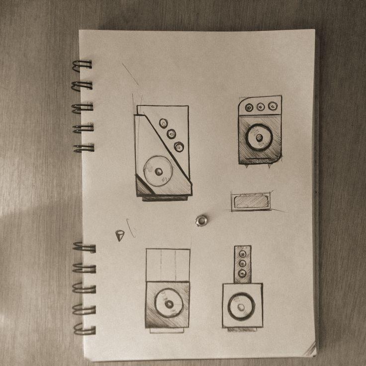 #sketch #design #speakers #houd