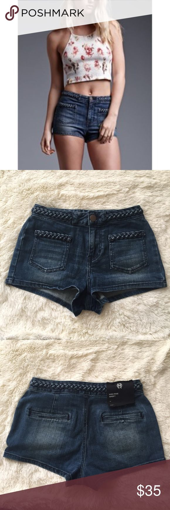 House of Harlow High Rise Shorts NWOT House of Harlow denim shorts, high rise. Size 25. Made of 99% cotton and 1% spandex.  From waistband to bottom hem 9 inches House of Harlow 1960 Shorts Jean Shorts