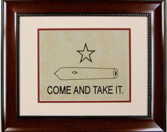 Barnwood Framed Gonzales Flag of Texas by TwelveGaugeDesigns