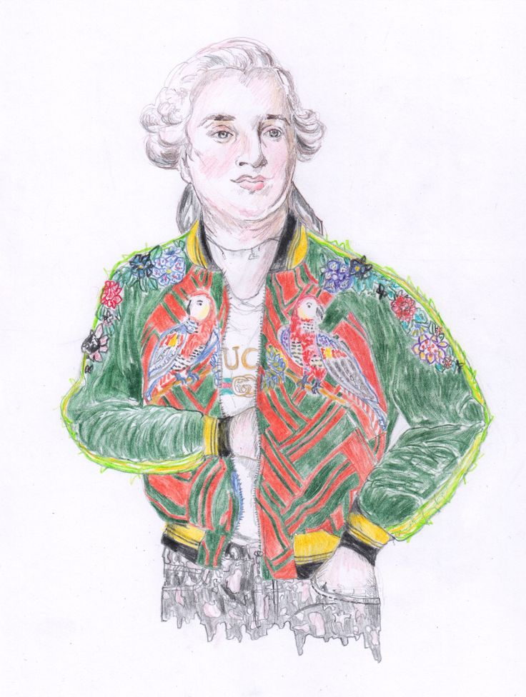 King Louis XVI in Alessandro Michele for Gucci