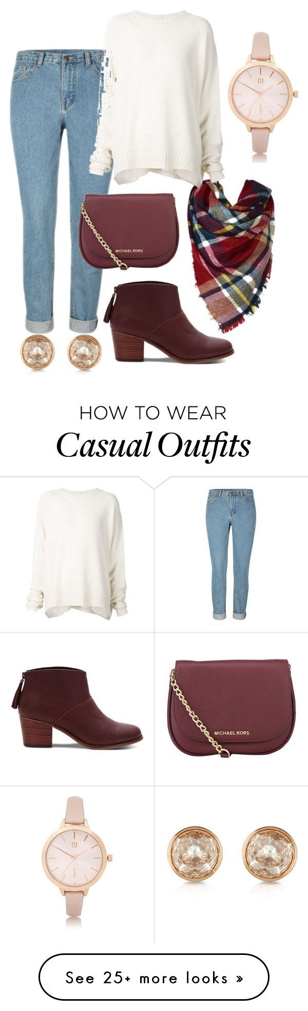 """""""Casual"""" by allie-millexo on Polyvore featuring TOMS, URBAN ZEN, MICHAEL Michael Kors, River Island and Michael Kors"""