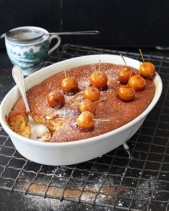 Traditional baked malva pudding with a yummy apple and Ideal milk twist. Serve it with vanilla ice cream and watch them come back for seconds.