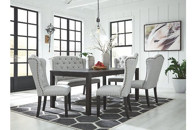 Jeanette Dining Chair Ashley Furniture Homestore Dining Room Bench Rectangular Dining Room Table Upholstered Dining Bench
