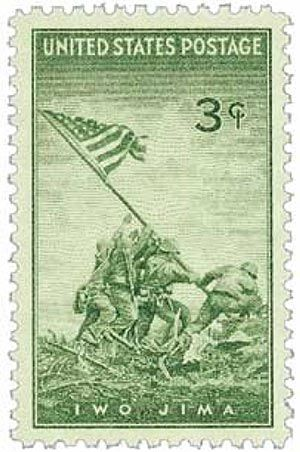 1945 3c Iwo Jima for sale at Mystic Stamp Company