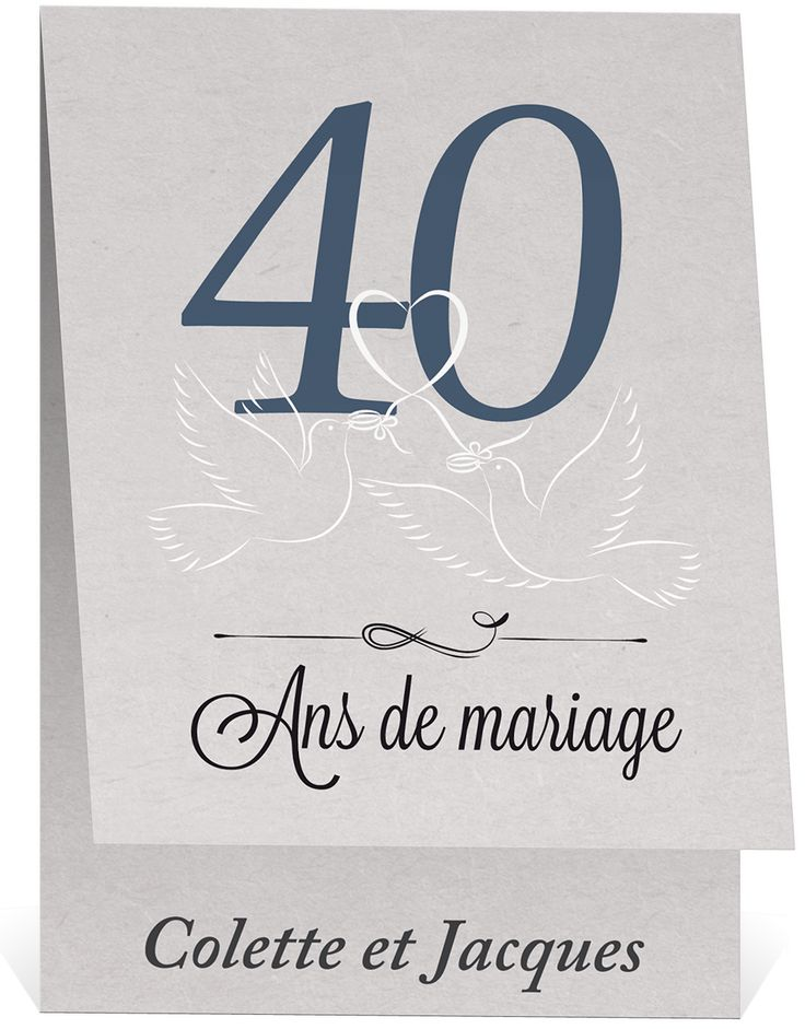 invitation anniversaire mariage 40 ans qm14 jornalagora. Black Bedroom Furniture Sets. Home Design Ideas